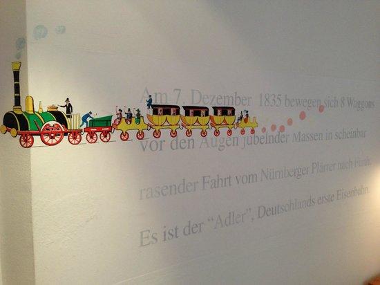 Hotel Drei Raben : Mythenzimmer Die erste Eisenbahn