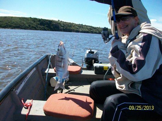 Mudlark River Front Lodge: Fishing on the Breede River