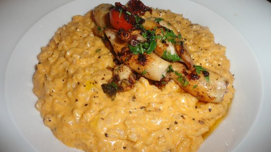 Bistrot Chaud-Vin : Squid risotto with lobster sauce