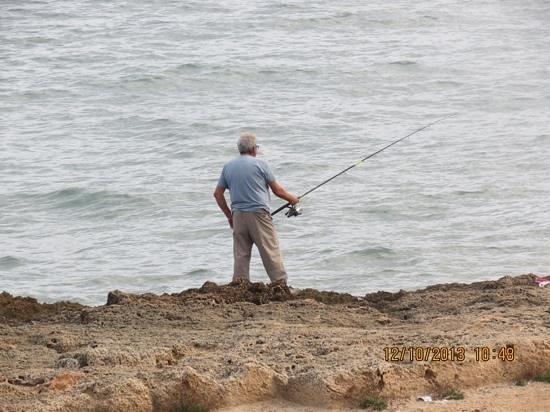 Hotel JS Miramar: lone fisherman