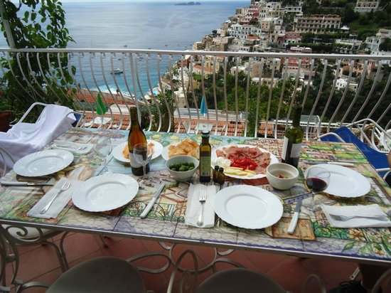 Villa Fiorentino: Dinner view from balcony of Sogna D' Amore suite