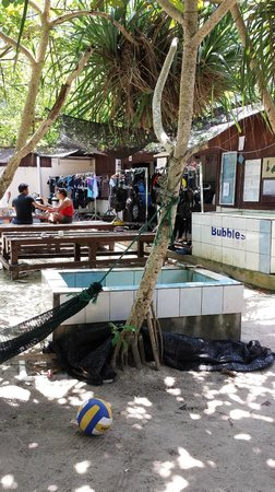 Bubbles Dive Centre and Resort: Dive shop area