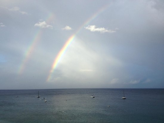 Ka'anapali Beach : Double rainbow on Kaanapali Beach