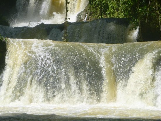 YS Falls: Water was raging in parts.