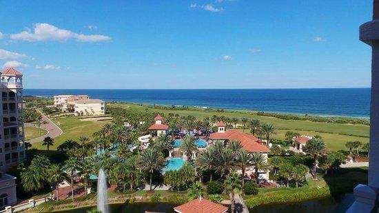 Hammock Beach Resort: Stunning view of resort from our balcony