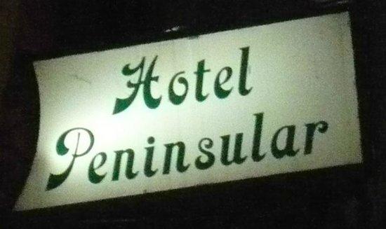 Hotel Peninsular: Enseigne
