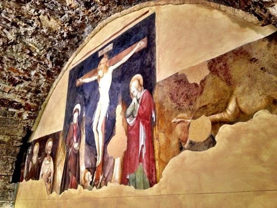 Eremo San Salvatore: Affresco abside