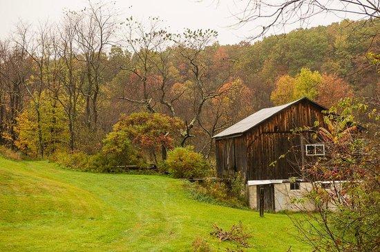 Gunter Hotel: Farm along the trail