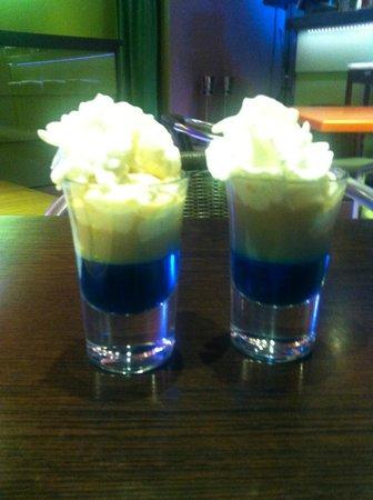 Amigos Coffee : Some amazingily weird blue shot that John gave us