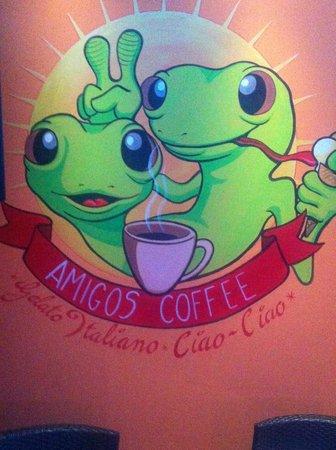 Amigos Coffee : Their cute logo!