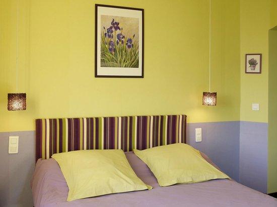 Tillieres-sur-Avre, Prancis: Vous apprécierez la gaieté de la chambre Giverny avec balnéo