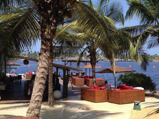 notre salon ext rieur au bord de la lagune un espace de. Black Bedroom Furniture Sets. Home Design Ideas