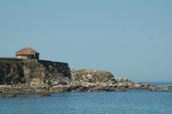 Playa A Lanzada: capilla de A Lanzada