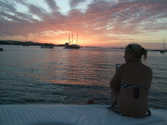 Complejo Costa Sur - Sol Post Hotel: sunset from boat trip  best ibiza charters