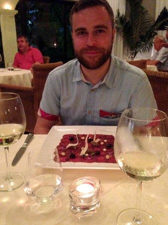 Bon Bon Restaurante: Venison Carpaccio starter