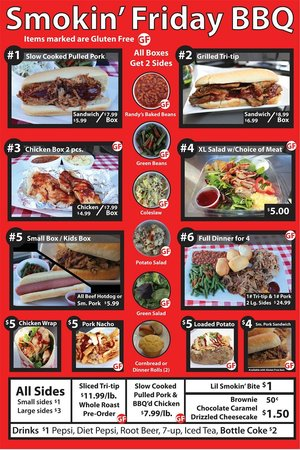 Smokin Friday BBQ: Our Menu ---95 % of our menu is Gluten Free