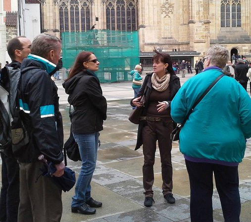 Art of Your Travel - Tours : Martina providing a tour of Prague Castle
