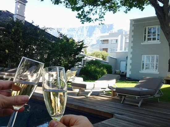 Trevoyan Guest House: Toast from the pool with Table Mountain in perfect view