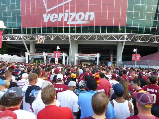 FedExField: It takes forever to get in.