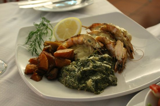 Quay 4: Kingklip and prawn with creamed spinach
