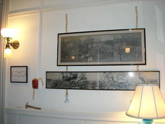 Golden Gate Hotel: A sampling of trompe l'oeil - the chains and hammer are painted on