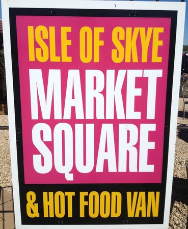 Isle of Skye Market Square: Market square is located by the main road alongside to the Co-op Supermarket