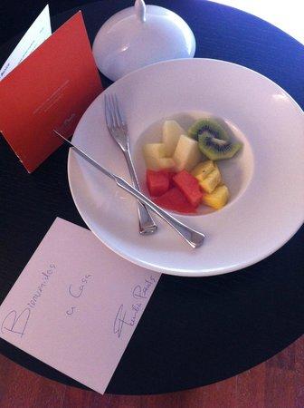 Finca Prats Hotel Golf & Spa: detalle de bienvenida