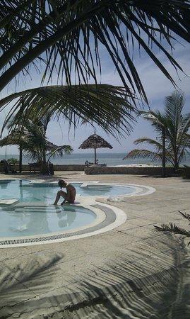 Kilima Kidogo Guesthouse: uitzicht vanaf het terras/huiskamer