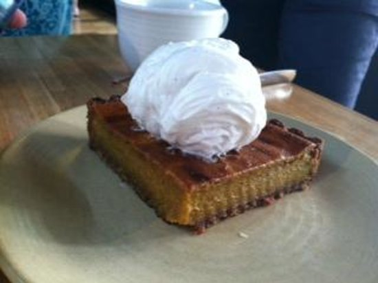 True Food Kitchen: Squash pie with whipped coconut milk cream