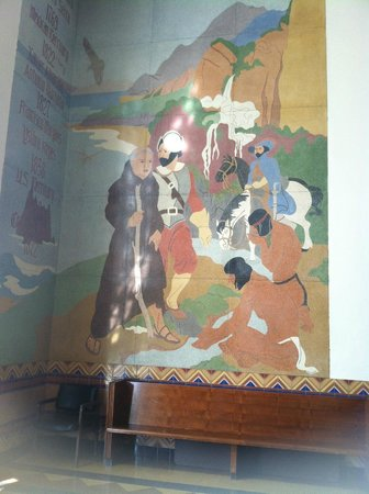 City Hall: Historical mural of the founding of S.M.