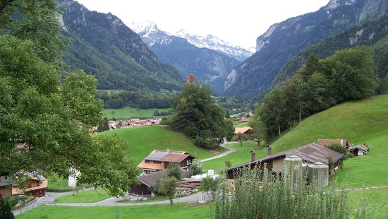 Hotel Berghof Wilderswil-Interlaken: View from our patio