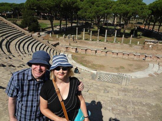 Ostia Tours - Ostia Antica Tours: Us in the old theatre at Ostia Antica