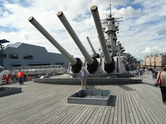 Battleship USS Wisconsin, docked next to Nauticus