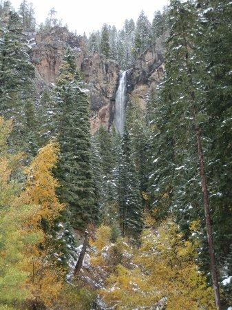 Weminuche Wilderness Area: waterfall along hwy 160
