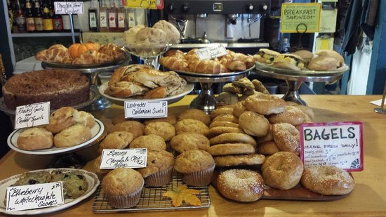 Sandy's Books & Bakery : Bountiful offerings at the bakery!