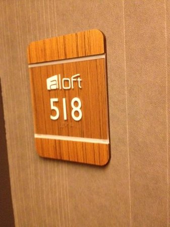 Aloft Harlem : our room for the night