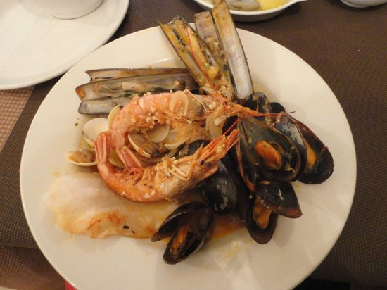 The Plum Tree Bar & Restaurant: The fish was the best part of the seafood dish
