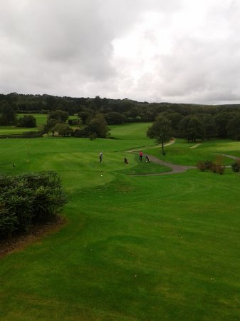 Lanhydrock Hotel and Golf Club: view of the 10th hole from our room