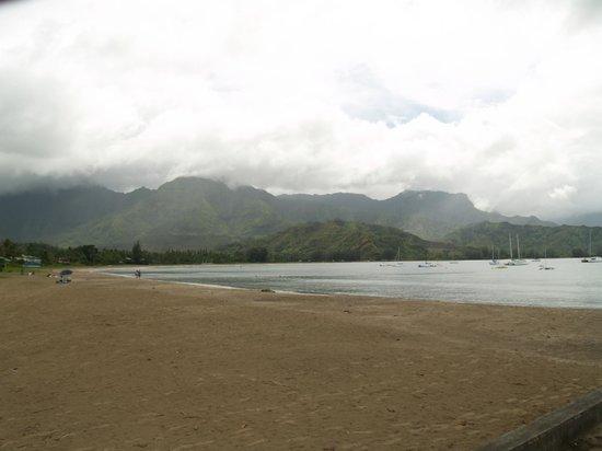 Hanalei Pier: beach