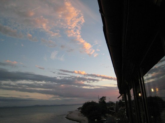 The Old Nessebar: view of sunset from our table