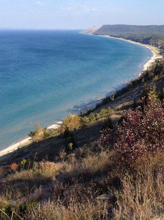 Sleeping Bear Heritage Trail : Lake Michigan shoreline near Glen Arbor and Glen Haven
