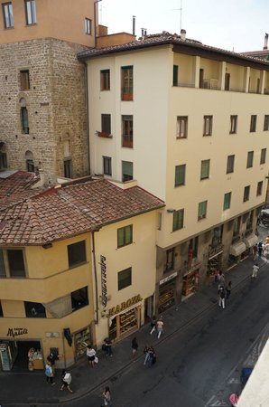 Pitti Palace al Ponte Vecchio: View from a corner room we stayed in