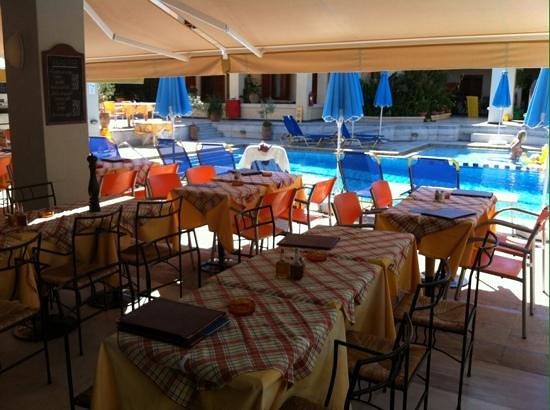 Hotel Anais Holiday: Restaurant/poolarea okt 2013