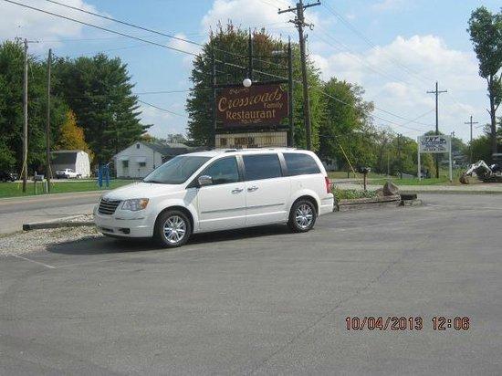 Sign for Crossroads Family Restaurant