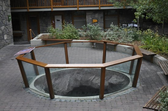 Fox Hotel & Suites: outside - you can look down into hot tub