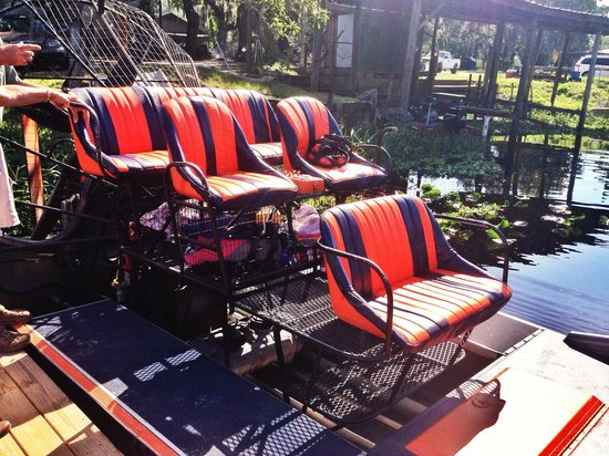 Alligator's Unlimited  Airboat Nature Tours: The boat