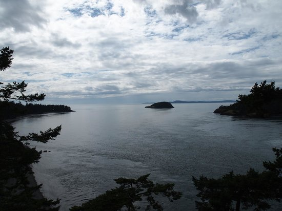Deception Pass State Park: Looking out towards the Sound from the Bridge