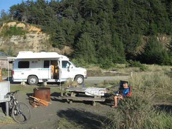 Gold Bluffs Beach Campground: campsite