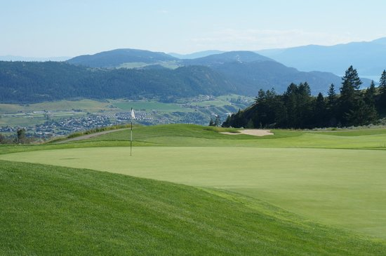 The Rise Golf Course: View down to west reaches of Vernon