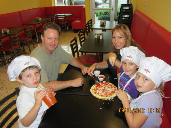 Pizza Dude creator with his family